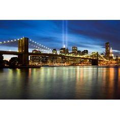 Brooklyn Bridge trykket på vinyltapet - kan også soesialtilpasses din vegg.