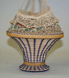 Glass bead purse 1810-20