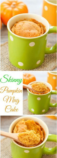 Skinny Pumpkin Mug Cake. Only 190 calories! Skinny Pumpkin Mug Cake. Only 190 calories! Mug Recipes, Fall Recipes, Dessert Recipes, Cooking Recipes, Steak Recipes, Coffee Recipes, Summer Recipes, Keto Recipes, Mug Cakes