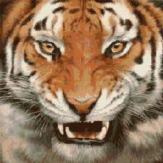 Cross Stitch | Tiger xstitch Chart | Design