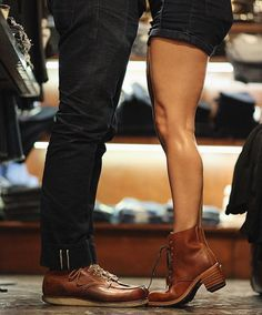 His & hers Red Wing Shoes! We offer a full collection of Men & Women Red Wing Shoes in the Amsterdam store. Bring your girlfriend by for some Red Wings :) - http://ift.tt/180OFjM - http://ift.tt/2f6ZzF0