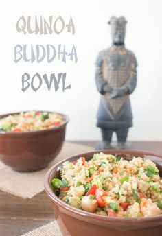 How to make a fresh, healthy, and delicious Buddha Bowl! Tom, the Terracotta Warrior, loves this recipe!