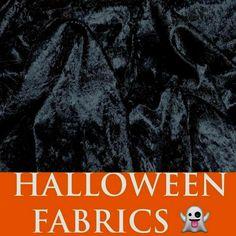 BLACK Halloween Theme Fabrics Draping Clubs Bars Crushed Velvet Decorating Party