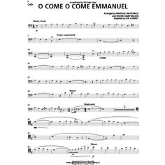 O Come, O Come Emmanuel (+ Optional Cello) - Sheet Music