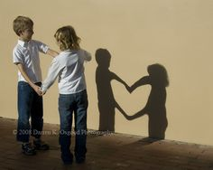 Love this idea!!! Maybe put the shadow of parents heads inside the heart ;)