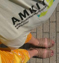 Amk-kirjastopäivät Arcadassa. #amkit14 #kesäkengät #työkengät