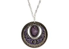 Shop Silver Forest Circle Pendant Necklace at BeallsFlorida.com. Complement your outfit with this 18'' necklace by Silver For...