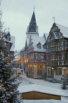Idstein at Christmas time - Hesse, Germany