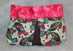 The Tante Clutch (Pink and Green). $50.00, via Etsy.