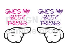 2 printable images  She's My Best Friend DIY by DesignGallery