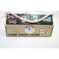 Cutie cu ceas si calendar Calendar, Sweet Home, Wedding, Home Decor, Home, Mariage, Homemade Home Decor, House Beautiful, Weddings