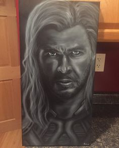 7b9107d6967 Fan Art THOR by HobbyOfTheMonth on Etsy Airbrush Painting