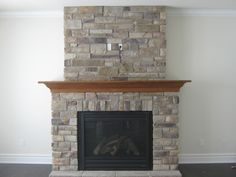 "Custom Fireplace With ""country Ledge Stone"""