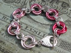 Spread the pink! Breast Cancer Awareness Gradient Pink Chainmaille by Dajamana, $49.00
