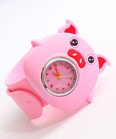 Loving this Pink Pig Slap Watch on #zulily! #zulilyfinds