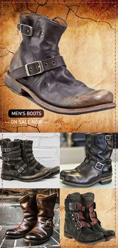 men's suits – High Fashion For Men Biker Leather, Leather Men, Leather Boots, Men's Shoes, Shoe Boots, Johny Depp, Cosplay Boots, Mens Boots Fashion, Herren Outfit