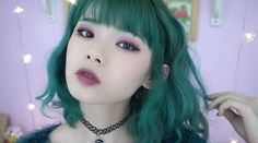 "meimutou: "" this vampy burgundy look is now up @ princessmei on youtube check it out here ✌ ✌ """