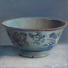 Simeon Nijenhuis, China Bowl, 2003, oil on panel, private collection Groningen.