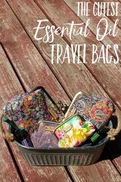 Cute essential oil travel bags-- all-natural and American-made!