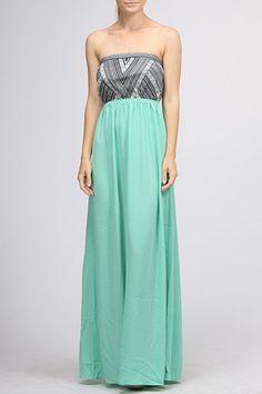 Mint Tribal Top Maxi Dress. $42. www.sevenandcoboutique.com