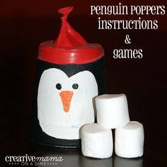 These Penguin Poppers made from plastic cups are the perfect activity indoors or out.