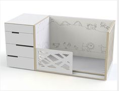 wadaly toddler bed and drawers -our kids would love this!