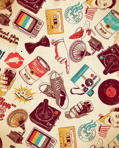 Old school ★ iPhone wallpaper