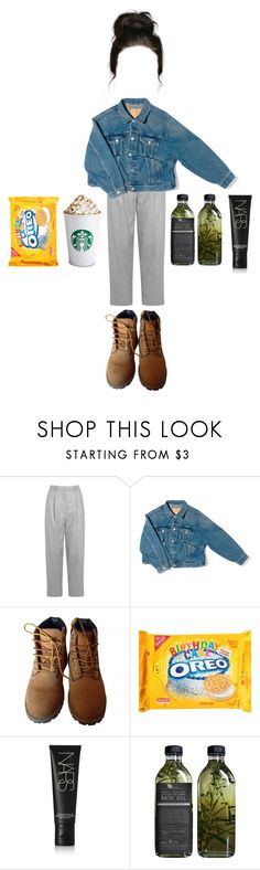 """""""."""" by mooniverse ❤ liked on Polyvore featuring Acne Studios, Balenciaga, Timberland, NARS Cosmetics and AMBRE"""