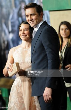 Actress Evangeline Lilly and actor Lee Pace arrives for Premiere Of New Line Cinema, MGM Pictures And Warner Bros. Pictures' 'The Hobbit: The Battle Of The Five Armies' held at Dolby Theatre on December 9, 2014 in Hollywood, California.
