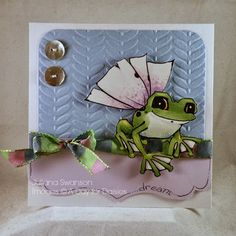 Stampin with Inky Fingers: Flying Frog #ADayForDaisies #ADFD