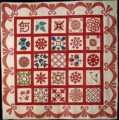 Quilt, Album pattern Members of the First Reform Churches of Fishkill and Hopewell  Date: ca. 1855–60 Geography: Mid-Atlantic, New York, United States Culture: American Medium: Cotton
