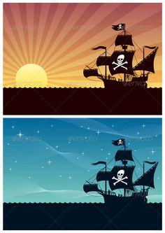 Pirate Backgrounds — JPG Image #wallpaper #ocean • Available here → https://graphicriver.net/item/pirate-backgrounds/1820300?ref=pxcr