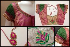 Pastel ShadesBLOUSE CODE: B067Kindly inbox/ email us for price details Call us/ Whatsapp/ Viber: 9894614882Email: shrishas.sai@gmail.comShipping worldwideDelivery within 5 working Days  08 November 2016 Pink Saree Blouse, Saree Blouse Patterns, Designer Blouse Patterns, Saree Blouse Designs, Indian Bridal Party, Simple Blouse Designs, Simple Sarees, Blouse Models, Cute Blouses