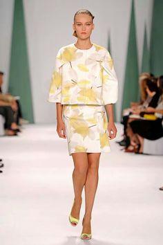 Carolina Herrera New York Fashion Week Spring Summer 15 #ss15 #NYFW