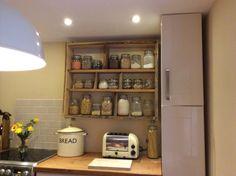 Reclaimed kitchen shelf