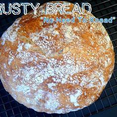 Crusty Bread - No Need to Knead!