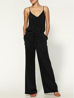 Neilson Silk Jumpsuit in 'caviar' at Piperlime.