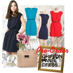 """CHIFFON PANEL DRESS"" by sarah-yosto on Polyvore"
