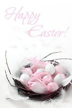 Happy Easter - Here is another egg coloring theme in Pink and White Hoppy Easter, Easter Bunny, Easter Eggs, Easter Wishes, About Easter, Easter Parade, Easter Celebration, Vintage Easter, Egg Decorating