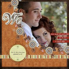 We ~ love how the photo enlargement is matted behind the background paper and is edged with lacy flowers.