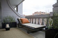 Zen Balcony with Chaise - contemporary - patio - dc metro - Studio Santalla, Inc