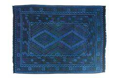 "8'x10'5"" Orangi Flat-Weave Rug, Azure on OneKingsLane.com"