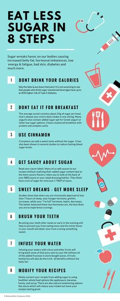 Use These 8 Tips To Effectively Cut Down Your Sugar Intake Infographic
