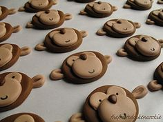Monkey cupcake topper tutorial 9good for cookies too)