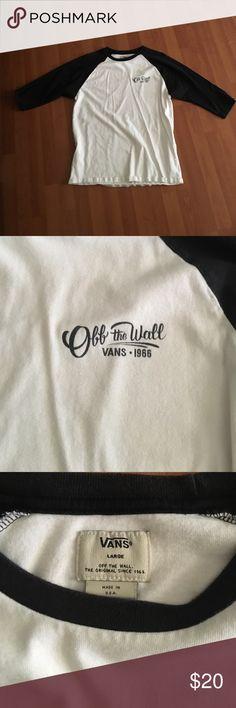 Vans baseball tee White and black vans off the wall 1966 baseball tee Vans Shirts Tees - Long Sleeve