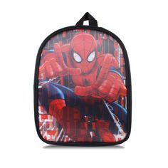 Marvel Boys - Spider Man Spray - 3D Effect Backpack - Black/Red - One Size - One Size / Black