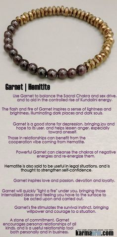 Garnet's fire stimulates the survival instinct, bringing willpower and courage to a situation.#Garnet inspires love and passion, devotion and loyalty.♛ #BEADED #Yoga #Charm #BRACELETS #Mens #Good #Luck #womens #Jewelry #Crystals #Energy #gifts #Chakra #Healing #Kundalini #Law #Attraction #LOA #Love #Mala #Meditation #prayer #Reiki #mindfulness #wisdom #CrystalEnergy #Spiritual #friendship #Tony #Robbins #Stacks #Lucky #Mantra #Eckhart #Tolle #timesup #metoo