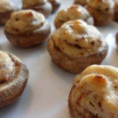 Cheesy Stuffed Mushroom Caps