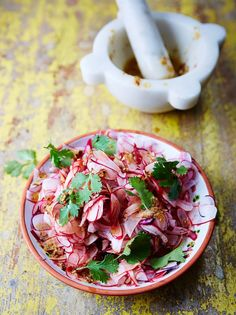Radish and coriander pickle With chilli, ginger and tangy lime