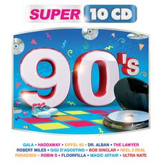 90's -  #Gala #Haddaway #Eiffel65 #DrAlban #TheLawyer #RobertMiles #GigiDagostino #BobSinclar #Reel2Real #Paradisio #RobinS #Floorfilla #MagicAffair #UltraNate #Super10CD